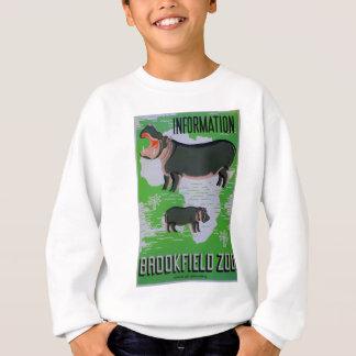 Brookfieldの動物園のカバ! スウェットシャツ