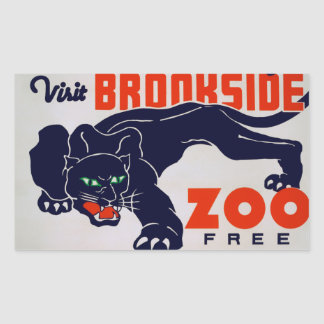 Brookfieldの動物園 長方形シール