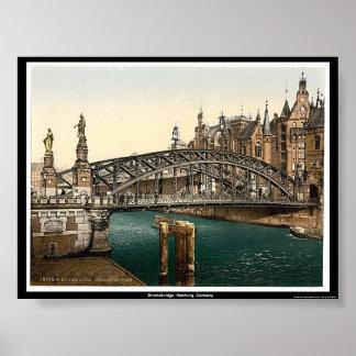 Brooksbridge、ハンブルク、ドイツ ポスター
