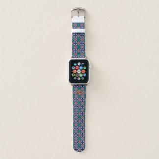 Brown Diamond Fractal Pattern Custom Monogram Apple Watchバンド
