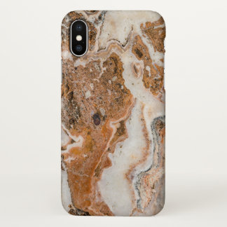 Brown & Gray Marble Texture iPhone X ケース