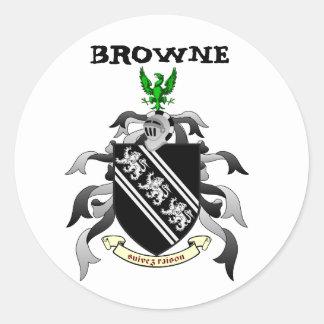 Browneの頂上のステッカー ラウンドシール
