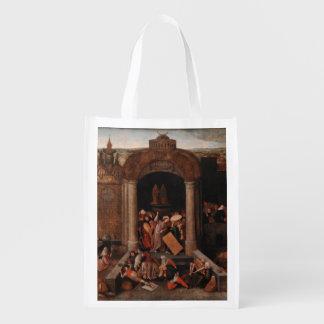 Bruegel著寺院から貿易業者を運転しているキリスト エコバッグ