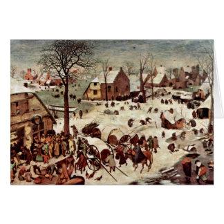 Bruegel D. A?。Pieter著ベスレヘムの人口調査 カード