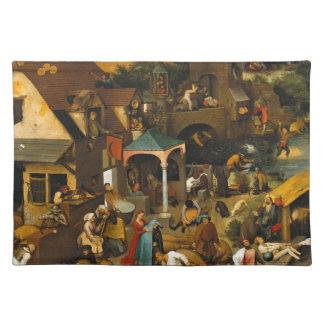 Bruegel Netherlandishの諺 ランチョンマット