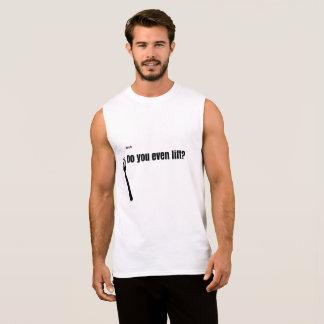 Bruh、持ち上がりますか。 袖なし超綿 袖なしシャツ