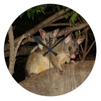 Brushtailのふくろねずみ ラージ壁時計