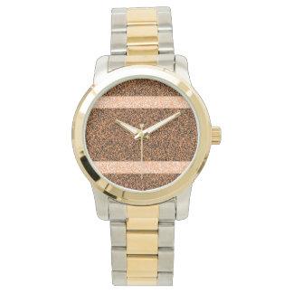 BTのストリップのツートーン腕時計、金ゴールドおよび銀製の調子 腕時計
