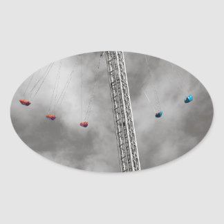 BTの無限星 楕円形シール