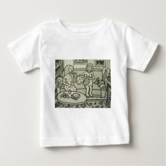 bt Pilieroを編むために学んで下さい ベビーTシャツ