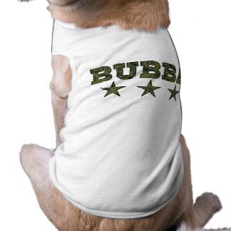 Bubbaのカムフラージュは犬のワイシャツを主演します ペット服