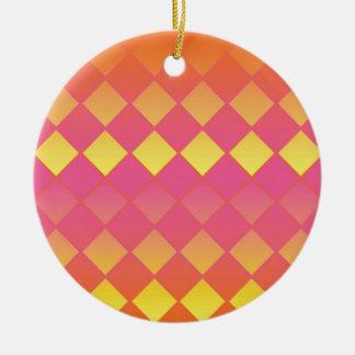 Bubblegumおよび日光のダイヤモンドパターン セラミックオーナメント