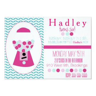 Bubblegumのカスタマイズ可能なパーティの招待状 カード