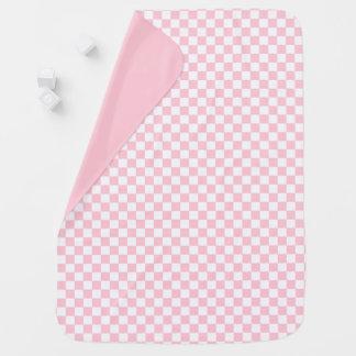 Bubblegumのピンクのチェッカーボード ベビー ブランケット