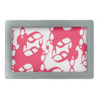 Bubblegumのピンクのビクトリアンなレース 長方形ベルトバックル
