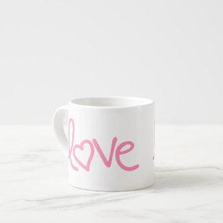 "bubblegumのピンクの""愛"" エスプレッソカップ"
