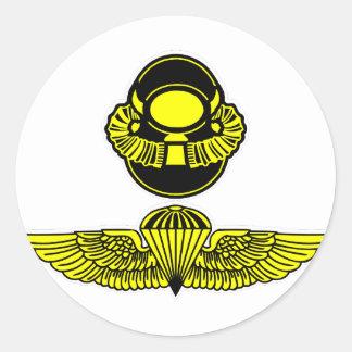 Bubblehead ヘルメット amp Jumpwings 丸形シール・ステッカー
