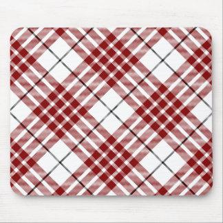 Buchananの一族のタータンチェックの赤く白い格子縞 マウスパッド