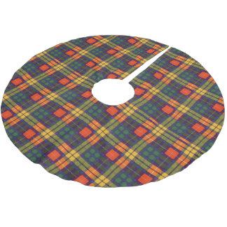 Buchananの一族の格子縞のスコットランド人のタータンチェック ブラッシュドポリエステルツリースカート