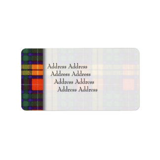 Buchananの一族の格子縞のスコットランド人のタータンチェック ラベル