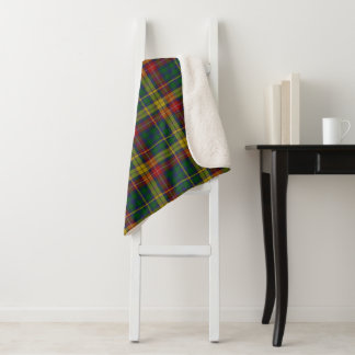 Buchananの格子縞のSherpa毛布 シェルパブランケット