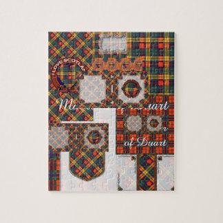 Buchanan家族の一族の格子縞のスコットランドのキルトのタータンチェック ジグソーパズル