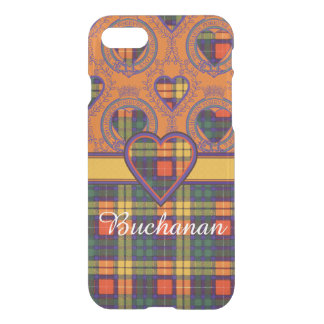 Buchanan家族の一族の格子縞のスコットランドのキルトのタータンチェック iPhone 8/7 ケース