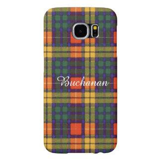 Buchanan家族の一族の格子縞のスコットランドのキルトのタータンチェック Samsung Galaxy S6 ケース