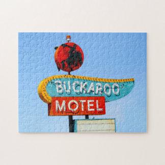 Buckarooのモーテルの印、ルート66、Tucumcari、N.M. ジグソーパズル