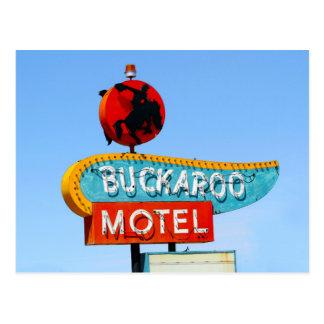 Buckarooのモーテルの印、Tucumcari、N.M. ポストカード