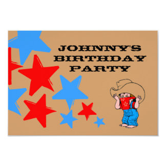 Buckarooの誕生日は西部のカウボーイの招待状を主演します カード