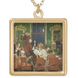 Buckinghamの生命、1853-55年(キャンバス) (sの油 ゴールドプレートネックレス
