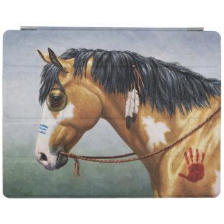 Buckskinのまだら馬のネイティブアメリカン戦争馬 iPadスマートカバー