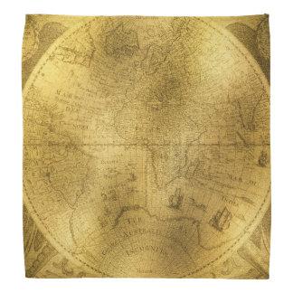 Buckskinの革ヴィンテージの世界地図 バンダナ