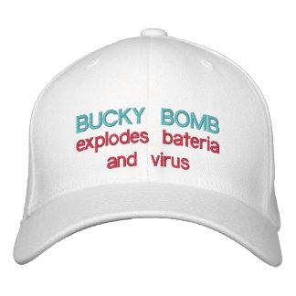 BUCKY爆弾は細菌及びウイルス< ckのBBを爆発します 刺繍入りキャップ