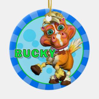 "Bucky ""GiggleBellies""馬のオーナメント セラミックオーナメント"