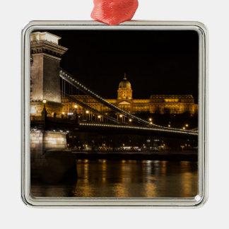 Budaの城ハンガリーブダペストが付いている鎖式吊り橋 メタルオーナメント