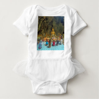 Buddistの洞窟の寺院 ベビーボディスーツ