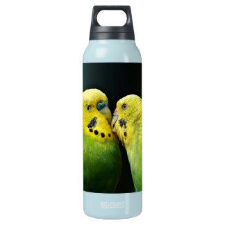 Budgieのオウムの鳥の接吻 断熱ウォーターボトル