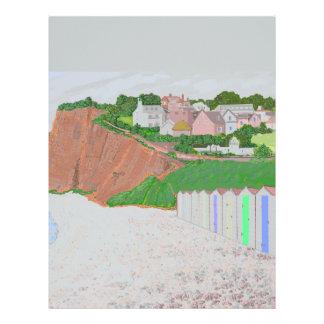 Budleigh Saltertonのビーチ小屋 レターヘッド