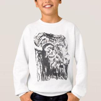 buffalo_B&W.jpg スウェットシャツ