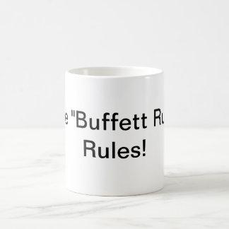 """""""Buffett規則""""の規則! コーヒーマグカップ"""