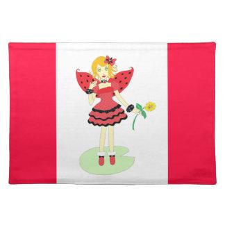 Bug Fairy女性 ランチョンマット