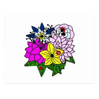 Bug Flower Bouquet女性 ポストカード