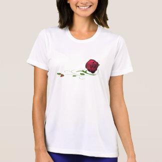 Bug Ladies T-shirt赤いバラの女性 Tシャツ
