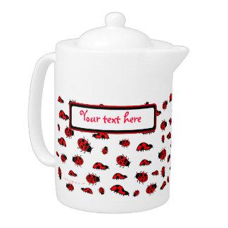 Bugs Teapot Templateてんとう虫のカスタマイズ可能な女性