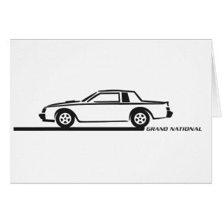 Buickのグランドナショナルの黒車 カード