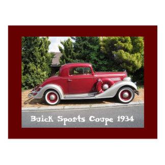 Buickはクーペ1934年を遊ばします ポストカード