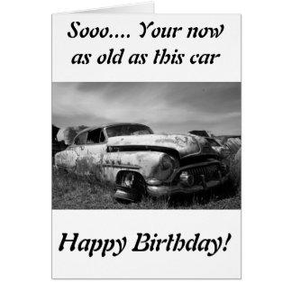 Buick Classic車の挨拶状 カード