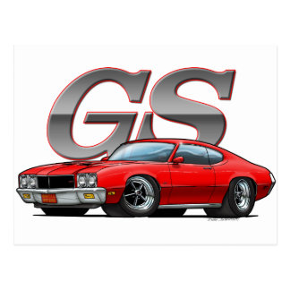 Buick GS_red ポストカード